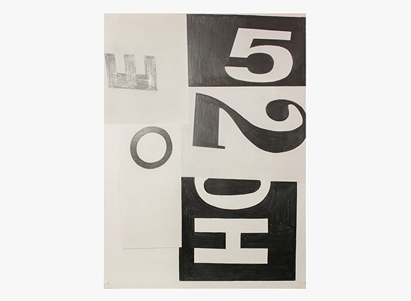 Image of 52H / D.F. Graphite Drawing