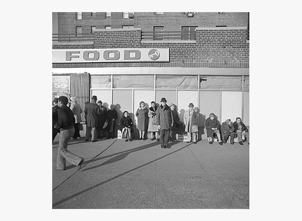Image of Mr. Katz and Neighbors in Front of Key Food