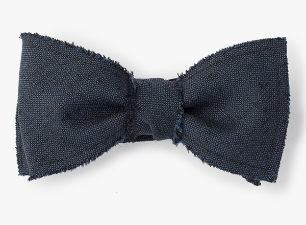 Raw Edge/ Wool Slub Bowtie