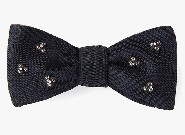 Sterling Clusters / Silk Mesh Overlay Bowtie