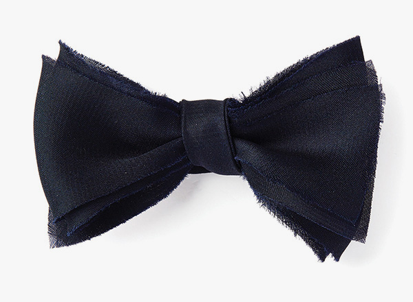 Image of Layered Raw Organza Bowtie