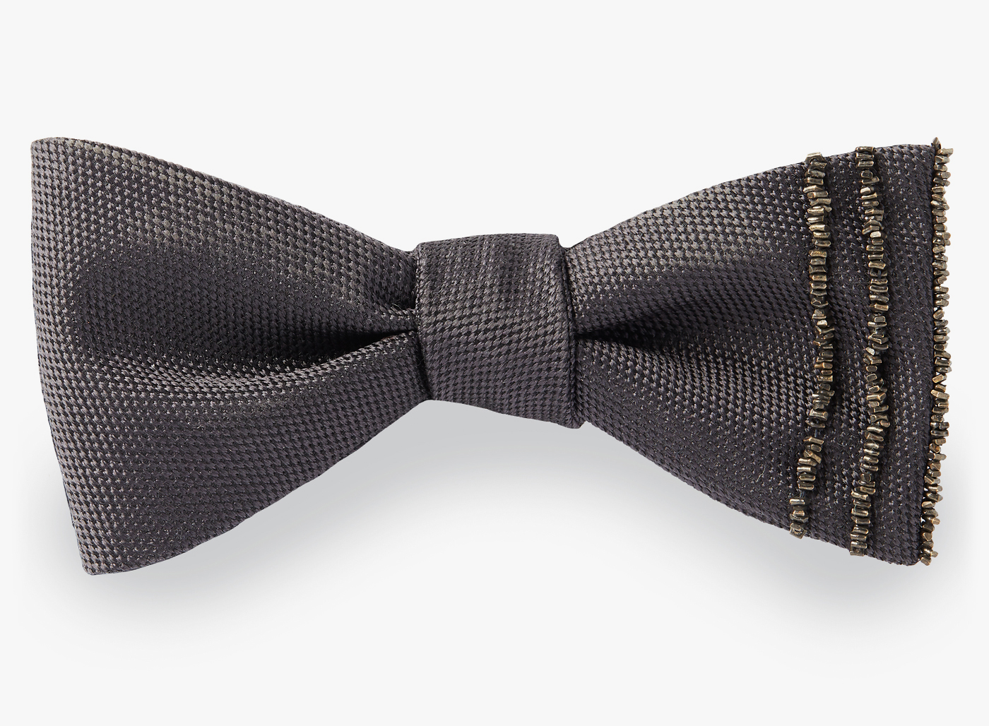 Image of 3 Beaded Stripes Bowtie