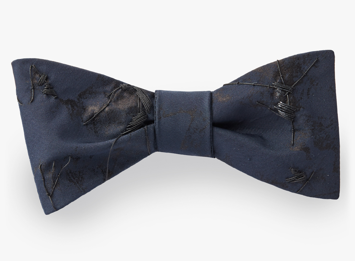 Image of Edge Painted Leaves Bowtie