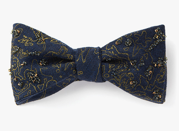 Image of Beaded Woven Graffiti Bowtie