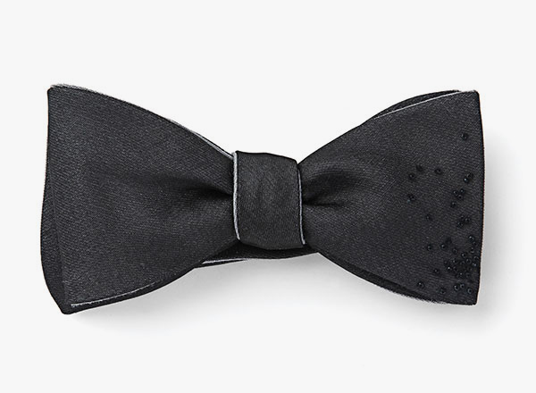 Image of Organza Overlay Beaded Bowtie