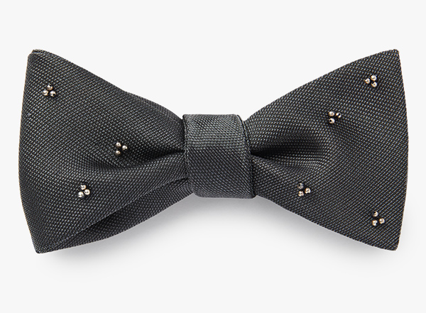 Image of Sterling Beaded Cluster Bowtie