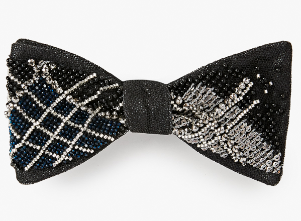 Image of Plaid Beaded Bowtie