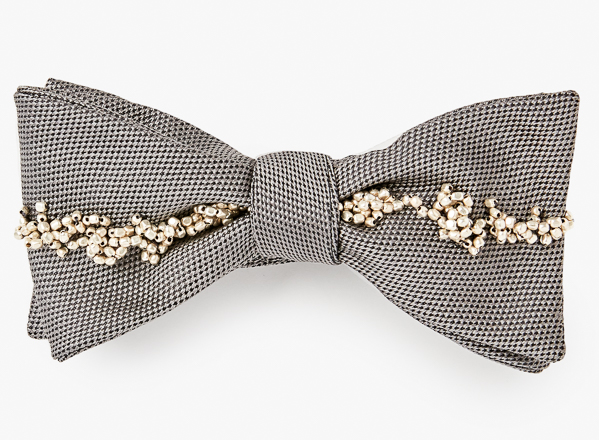 Image of Cluster Beaded Stripe Bowtie