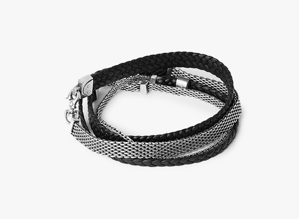 Image of Leather Mesh Bracelet 067