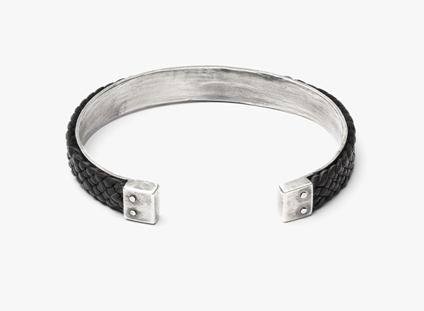 Image of Double Cuff w/ 10mm Leather Bracelet