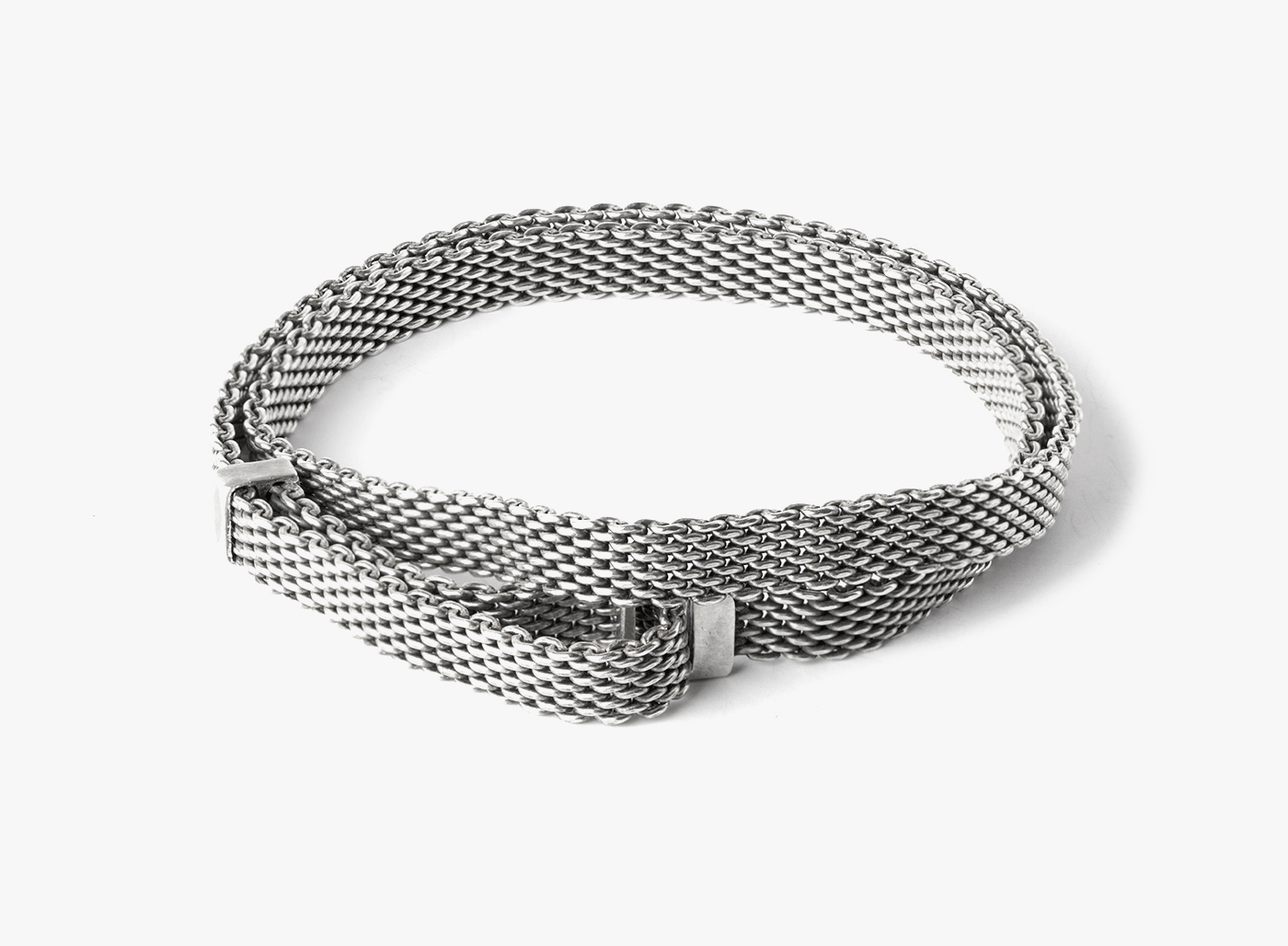 Image of Adjustable Medium Mesh Double Wrap Bracelet