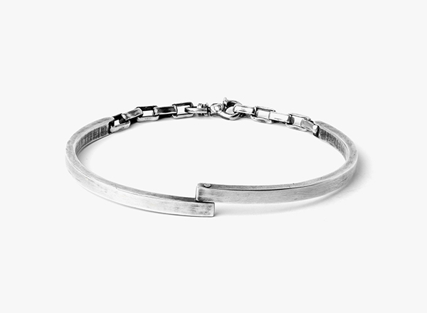 Image of Hinged Double Half Cuff Bracelet