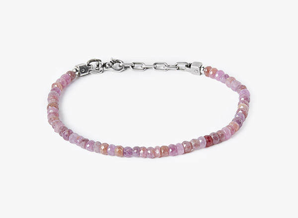 Image of Pink Sapphire w/ Ruby Bracelet 152