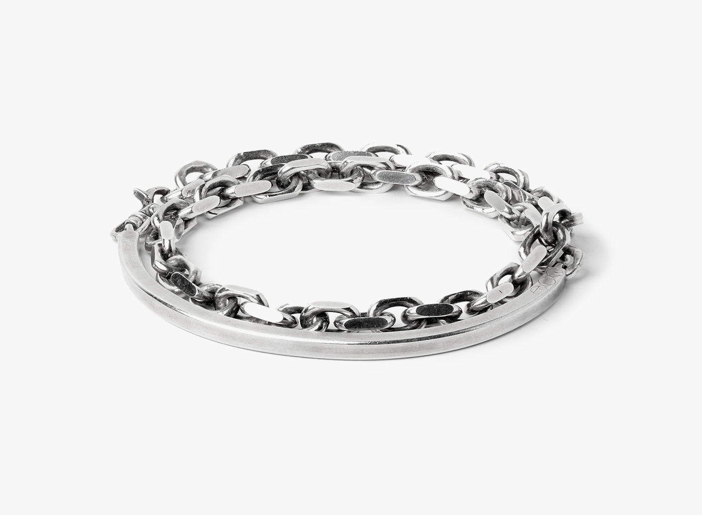 Image of ID Cuff to Cable Chain Bracelet