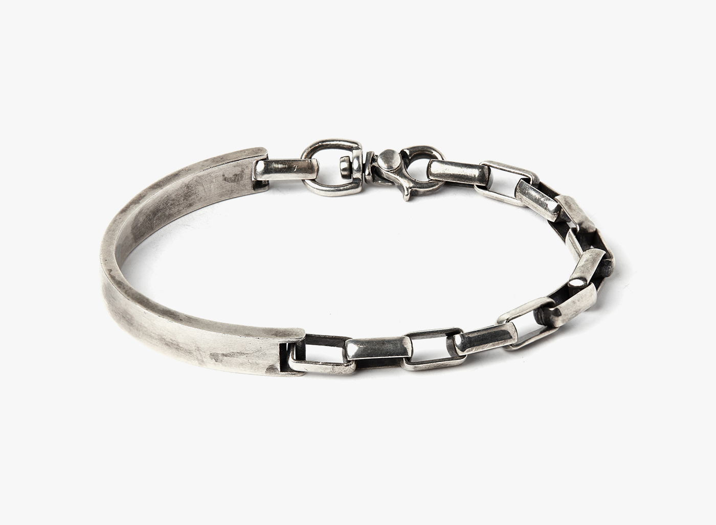 Image of Side Cuff to Box Chain Bracelet