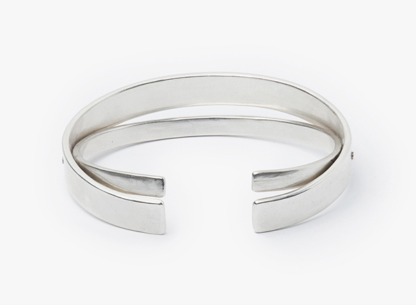 Image of 9x5mm Double Hinge Cuff Bracelet