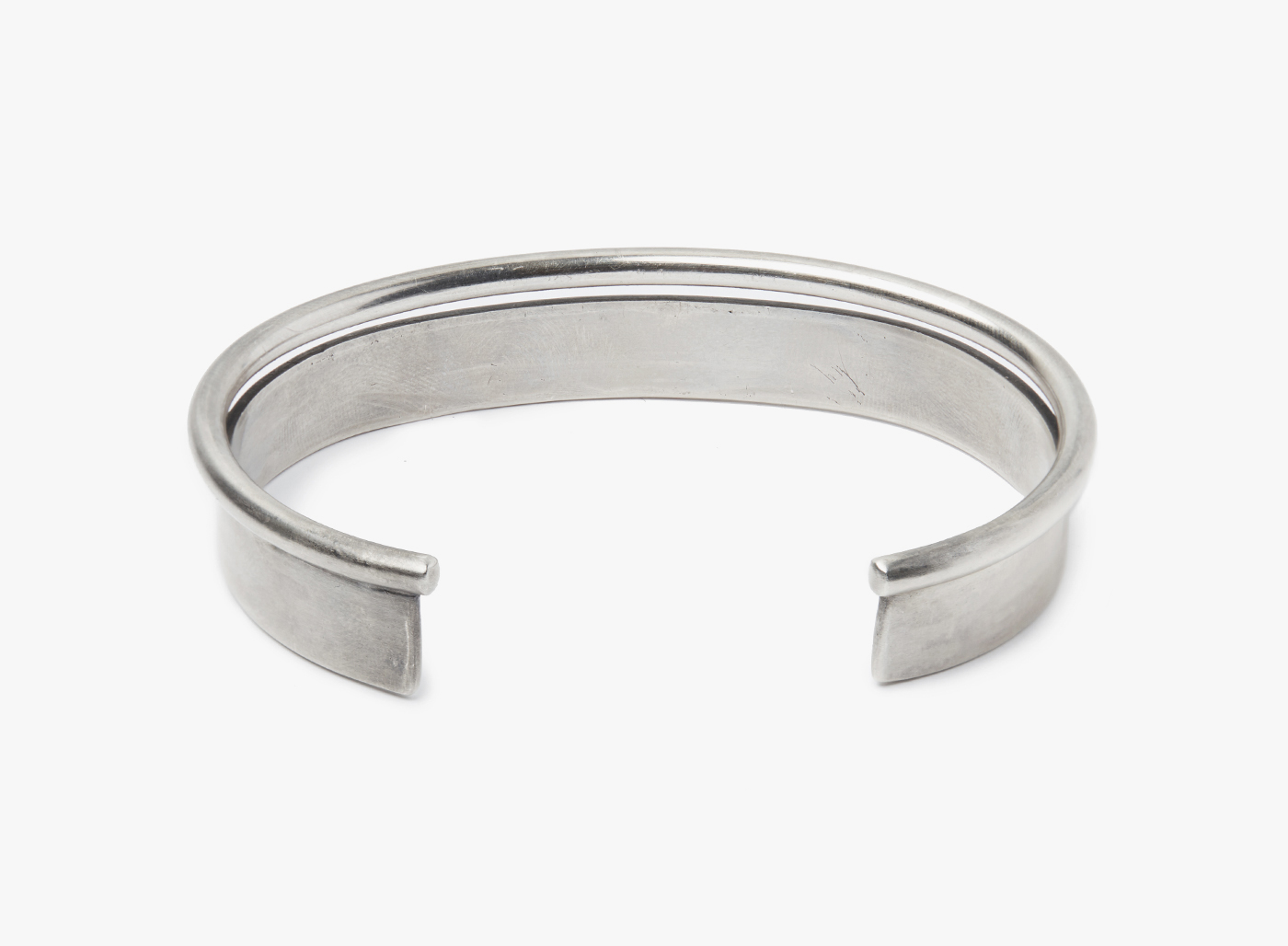 Image of Flat & Round Wire Double Cuff Bracelet