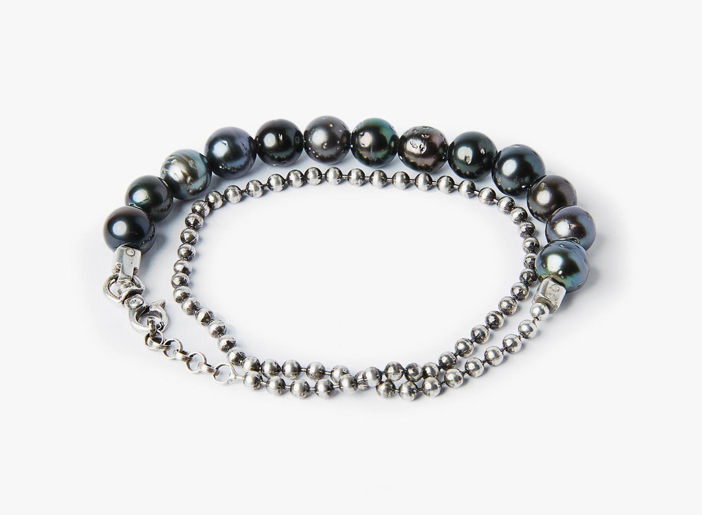 Image of 8mm Tahitian Pearls / 3mm Ball Chain
