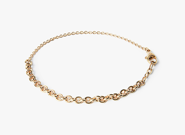 Image of 18k Gold Mixed Cable Bracelet 233