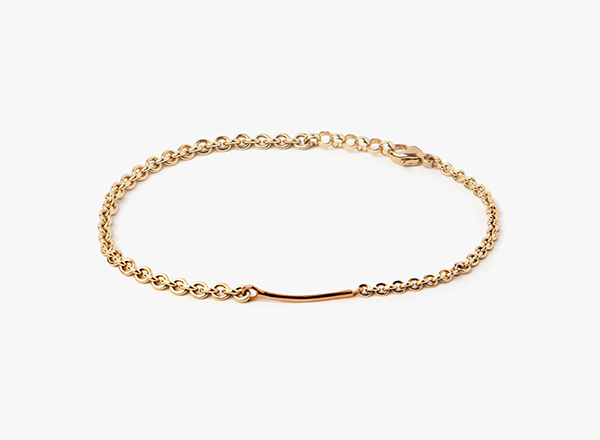 Image of 18k Gold Round Cable / 18k Rose Gold 16GA Bar