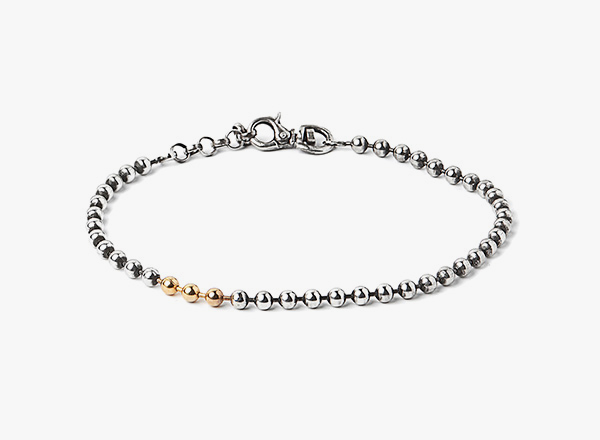 Image of Ball Chain w/ 3-18k Gold Balls Bracelet