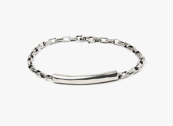 Image of Sterling Tube to Box Chain Bracelet 274