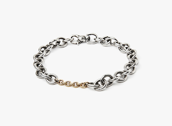Image of 18k Gold Cable Links to Cable Bracelet 279