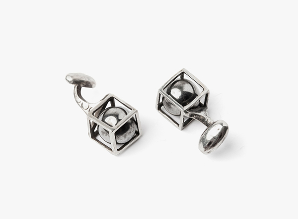 Image of Sphere In Cube Cufflinks