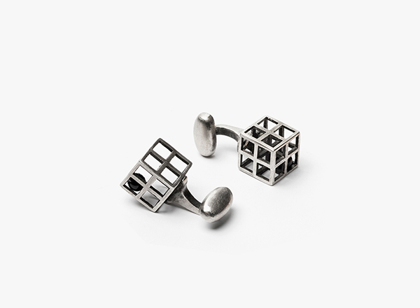 Image of 4 Grid w/ Onyx Cufflinks