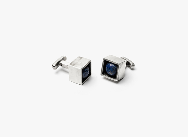 Image of Lapis in Cube Cufflinks