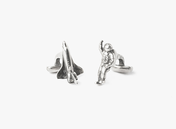Image of Astronaut & Spaceship Cufflinks