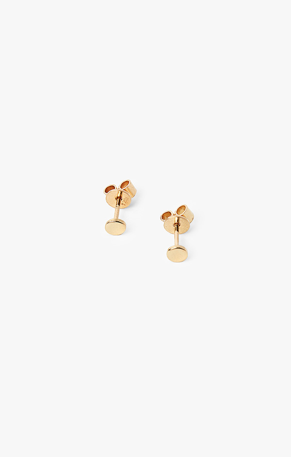 Image of 18k Gold Circle Post Earrings 001
