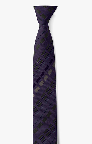 Image of Plaid With Contrast Stripe Necktie