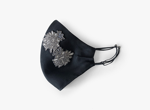 Image of Embroidered Floral Face Mask