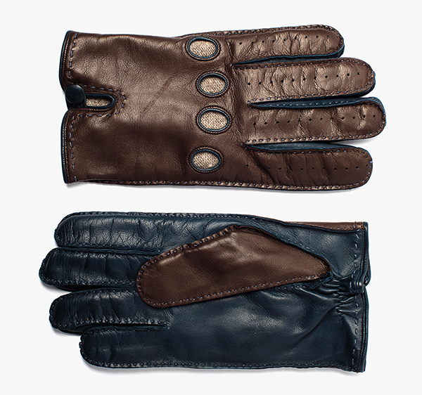 Image of 2 Tone Leather Gloves