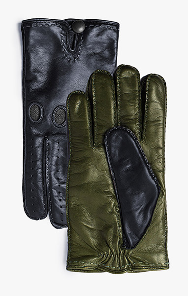 2 Tone Leather Gloves