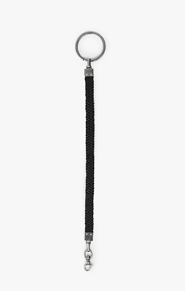Image of Flat Leather Braid to Key Ring - Key Chain