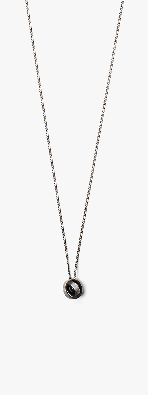 Image of Black Pearl In Sphere Necklace 015