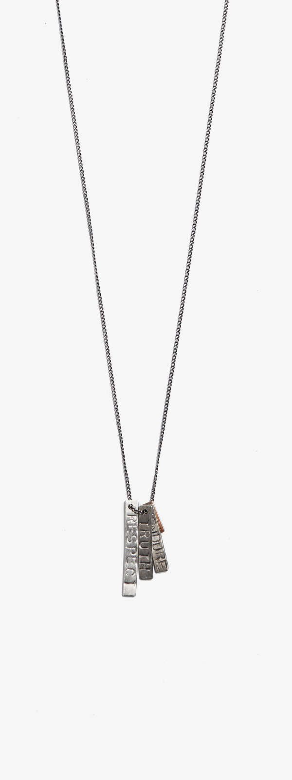 Respect / Truth / Endure / 18kt Rose Gold ID Tags Necklace