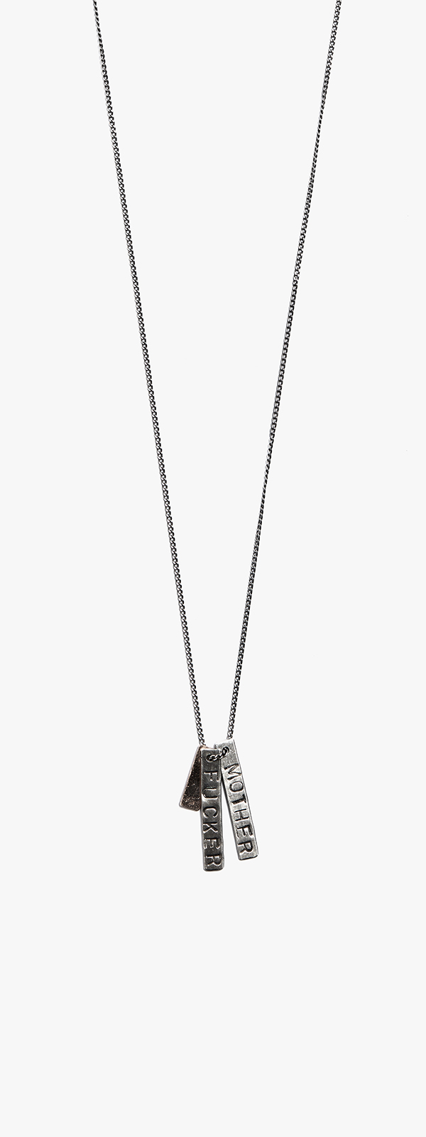 'M.F.' / 18kt Rose Gold ID Tags Necklace