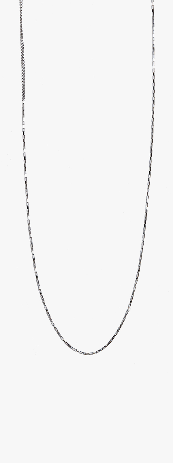 Image of Double Wrap Curb to Box Chain Necklace 057