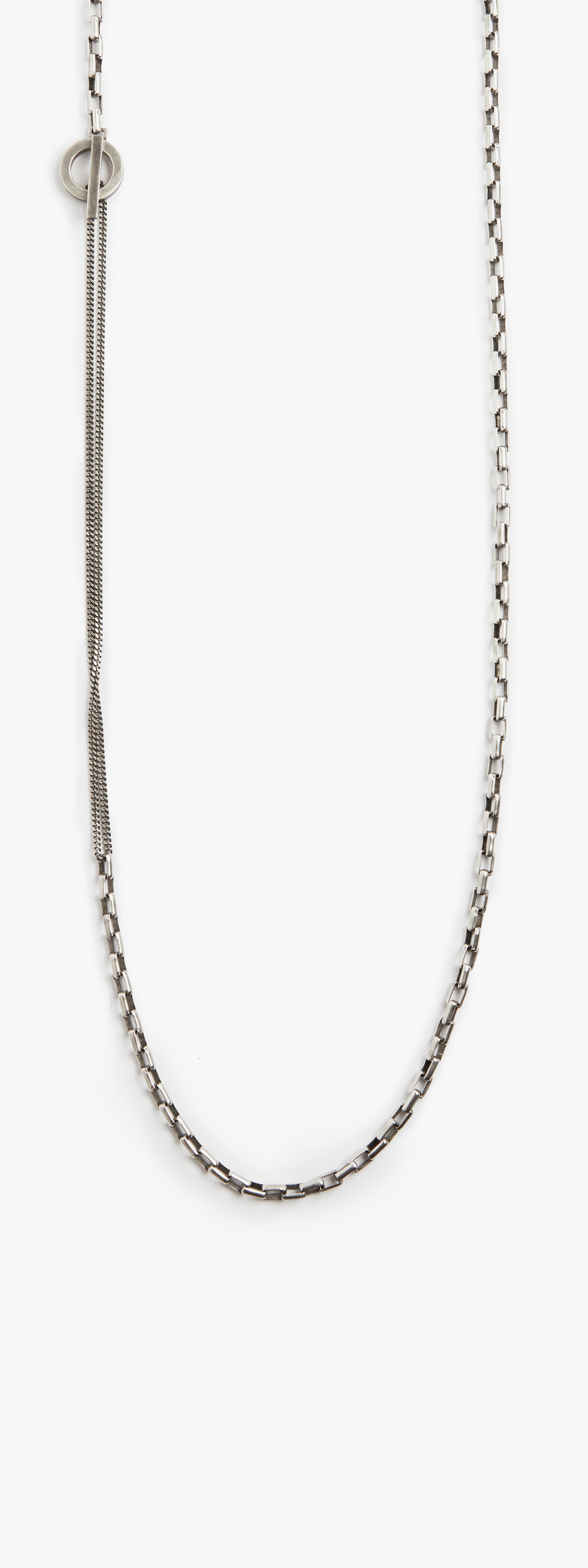 Image of Box to Micro Curb Chain w/ Toggle Necklace