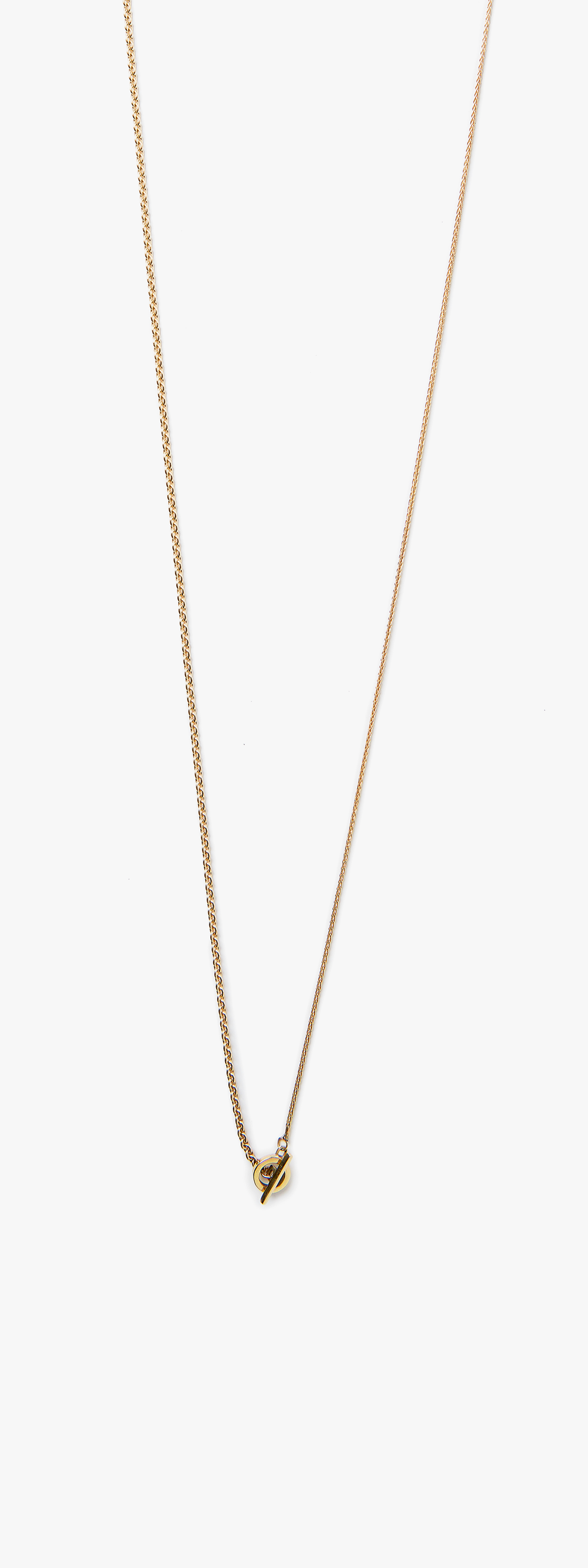 Image of 18k Yellow Gold Cable / 15GA Bar / Chain Necklace