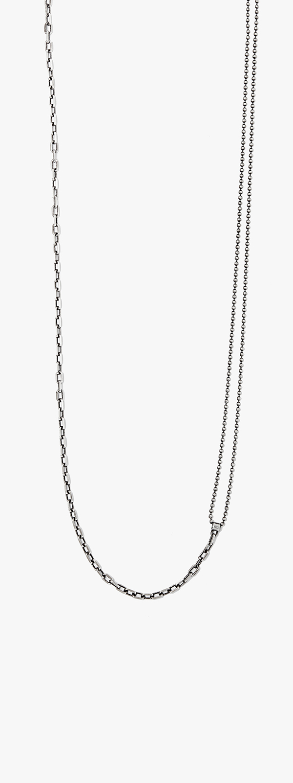 Image of Double-Wrap Ball to Anchor Chain Necklace 084