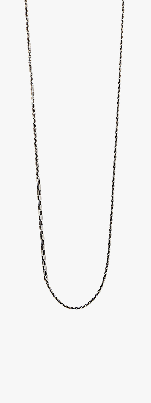 Image of Sterling Cable w/ Box Chain Necklace