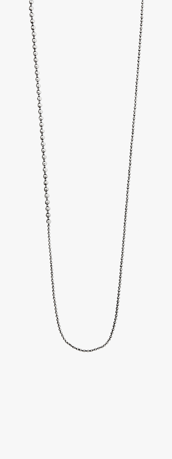Image of Medium to Micro Ball Chain Necklace