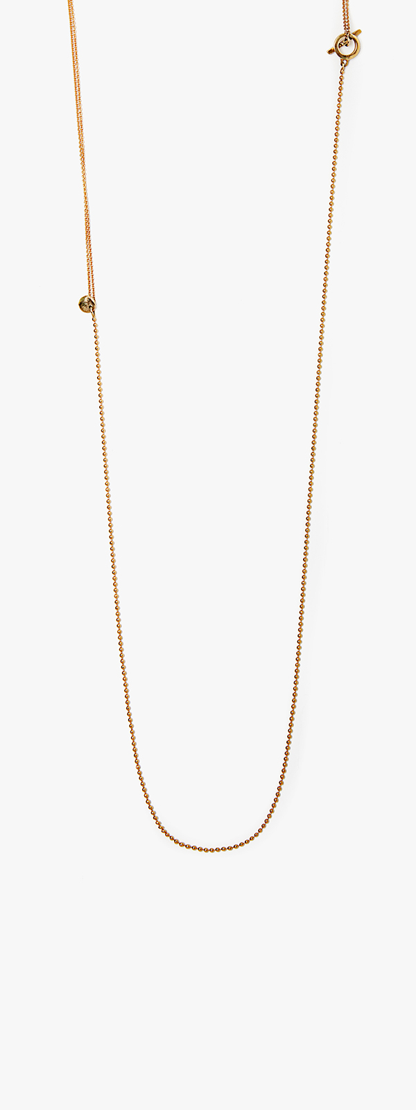 Image of 18k Gold Ball Chain Necklace