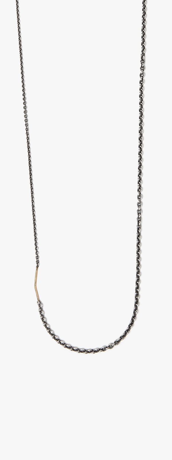 Image of 18k Gold Wire to Cable Necklace 092