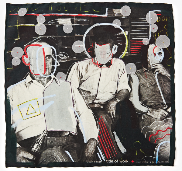 Image of Embroidered - 'Bad Times In Threes' Pocket Square
