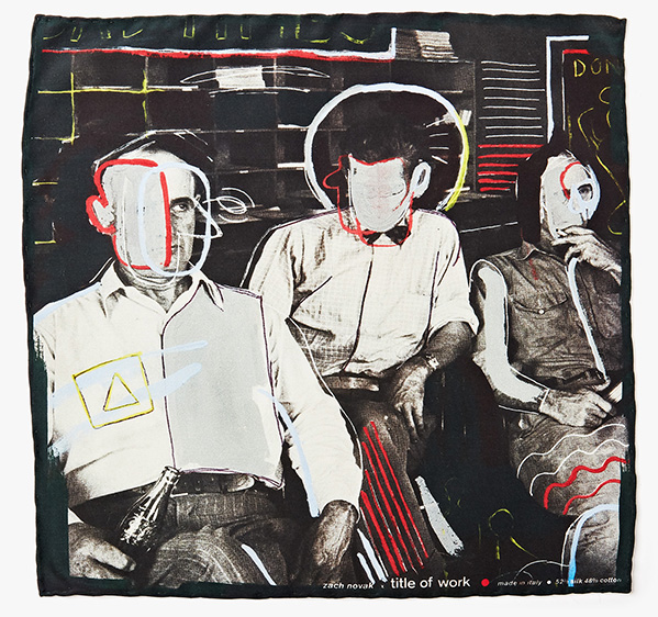 Image of 'Bad Times In Threes' Pocket Square